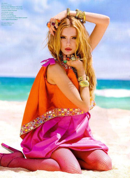 eleven-three:    Christian Dior Haute Couture F/W 2008, Lily Donaldson by Sebestian Faena for V Magazine 53
