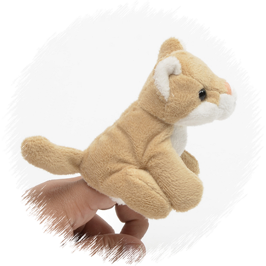 Mountain Lion Finger Puppet Stuffed Animal By Unipak I Love