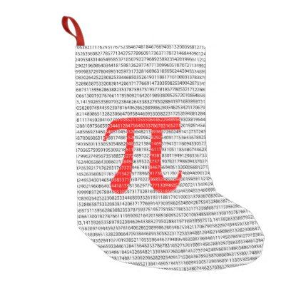 original red number pi day mathematical symbol small christmas