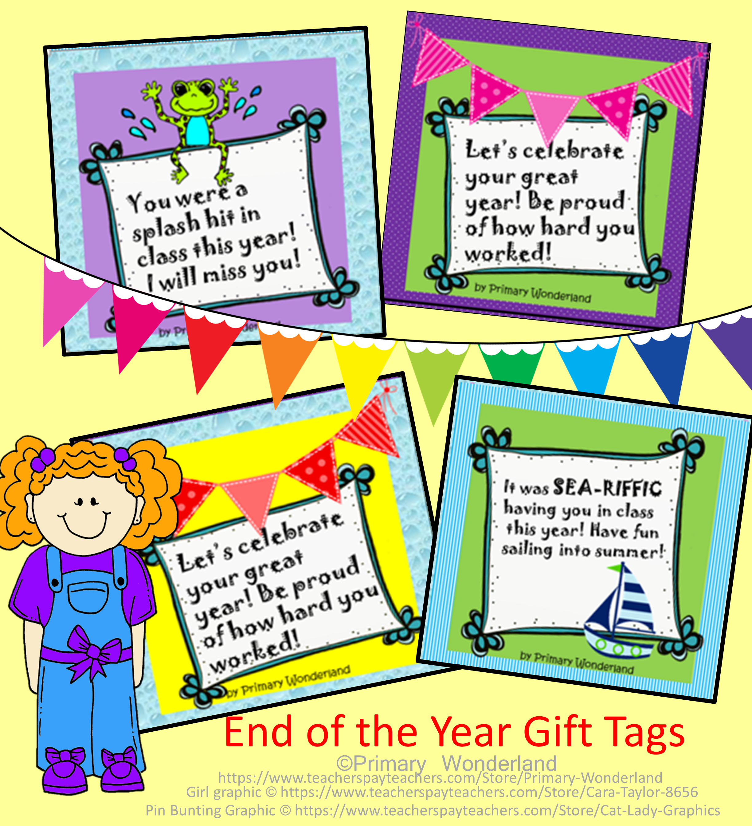 End Of The Year T Bag Tags Variety Themes