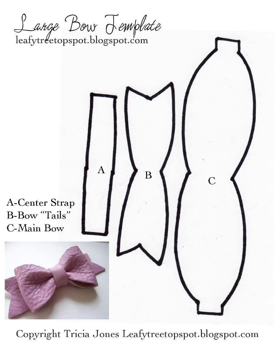 Bow Template From Leafy Treetop Spot Diy Hair Bows Bow Template
