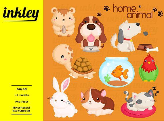 Casa Mascota Animal Clipart Perro Y Gato Clip Art Lindo Etsy Cute Animal Clipart Animal Clipart Free Animal Clipart