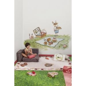 Fotomurales Infantiles a Medida - Mural BUNNY'S DAY OUT PICNIC