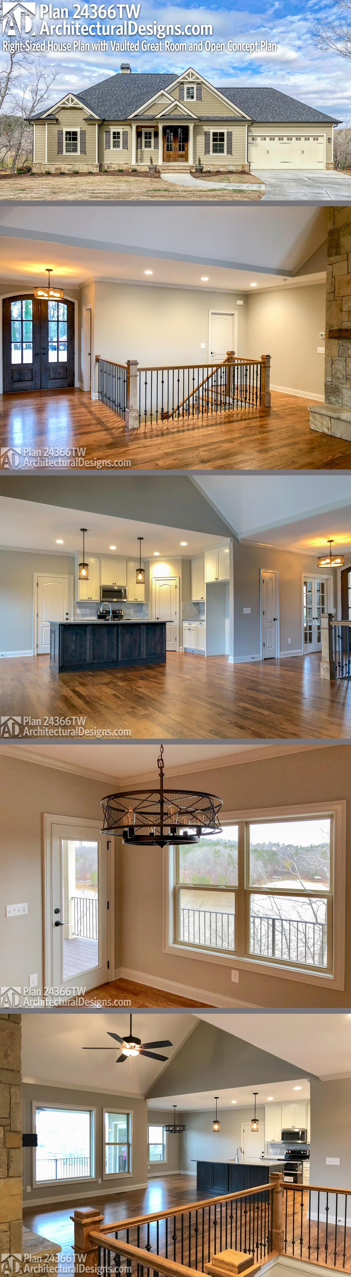 Plan 24377TW Country Craftsman House Plan with