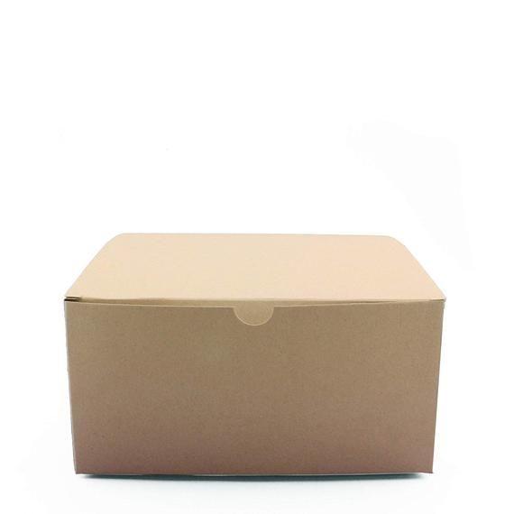 Kraft Gift Box 5 X 5 X 3 Set Of 10 Brown Box Kraft Gift Boxes Gift Boxes With Lids Cardboard Gift Boxes