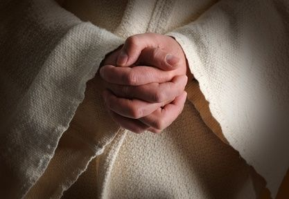 The Hands Of Jesus Clasped In Prayer We Are His Hands