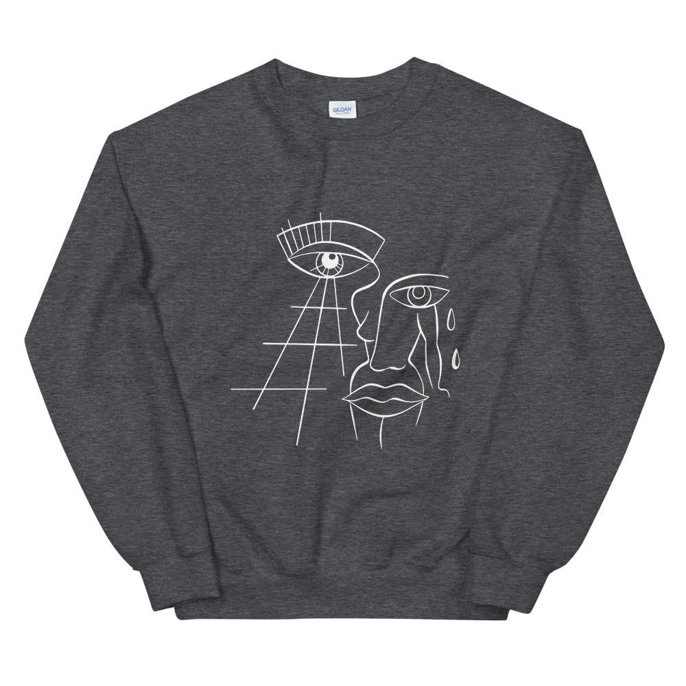 Limited Edition UnisexSweatshirt by Tattoo Artist Sophie Lee  Free Express Shipping!  A sturdy and warm sweatshirt bound to keep you warm in the colder months. A pre-shrunk, classic fit sweater that's made with air-jet spun yarn for a soft feel and reduced pilling.    • 50% cotton, 50% polyester  • Pre-shrunk  • Classic fit with no center crease  • 1x1 athletic rib knit collar with spandex  • Air-jet spun yarn with a soft feel and reduced pilling  • Double-needle stitched collar, shoulders