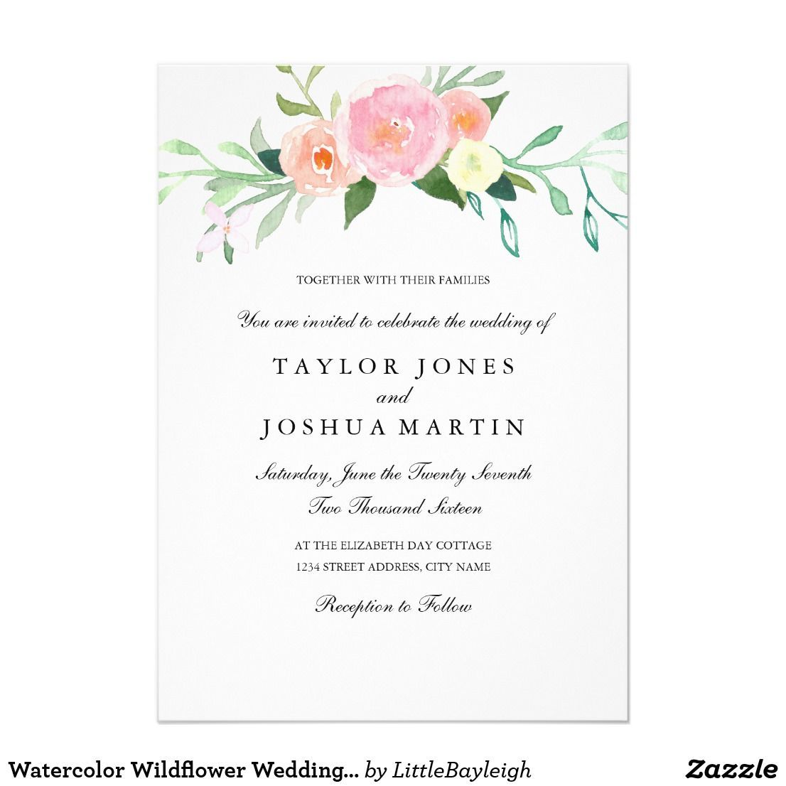 Size 5 x 7 Invitation Flat Card Make custom invitations and