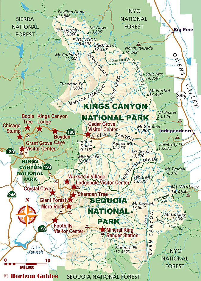 SequoiaKings Canyon National Parks Map Sequoia National Park