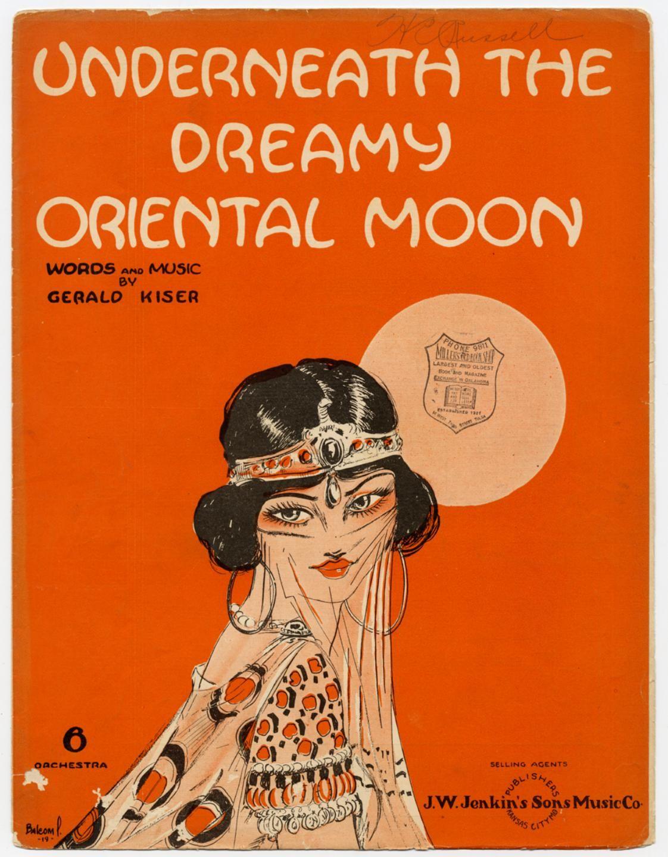 L/'Orient Advertisement Woman Moon Gypsy Vintage Poster Wall Art Nouveau Print
