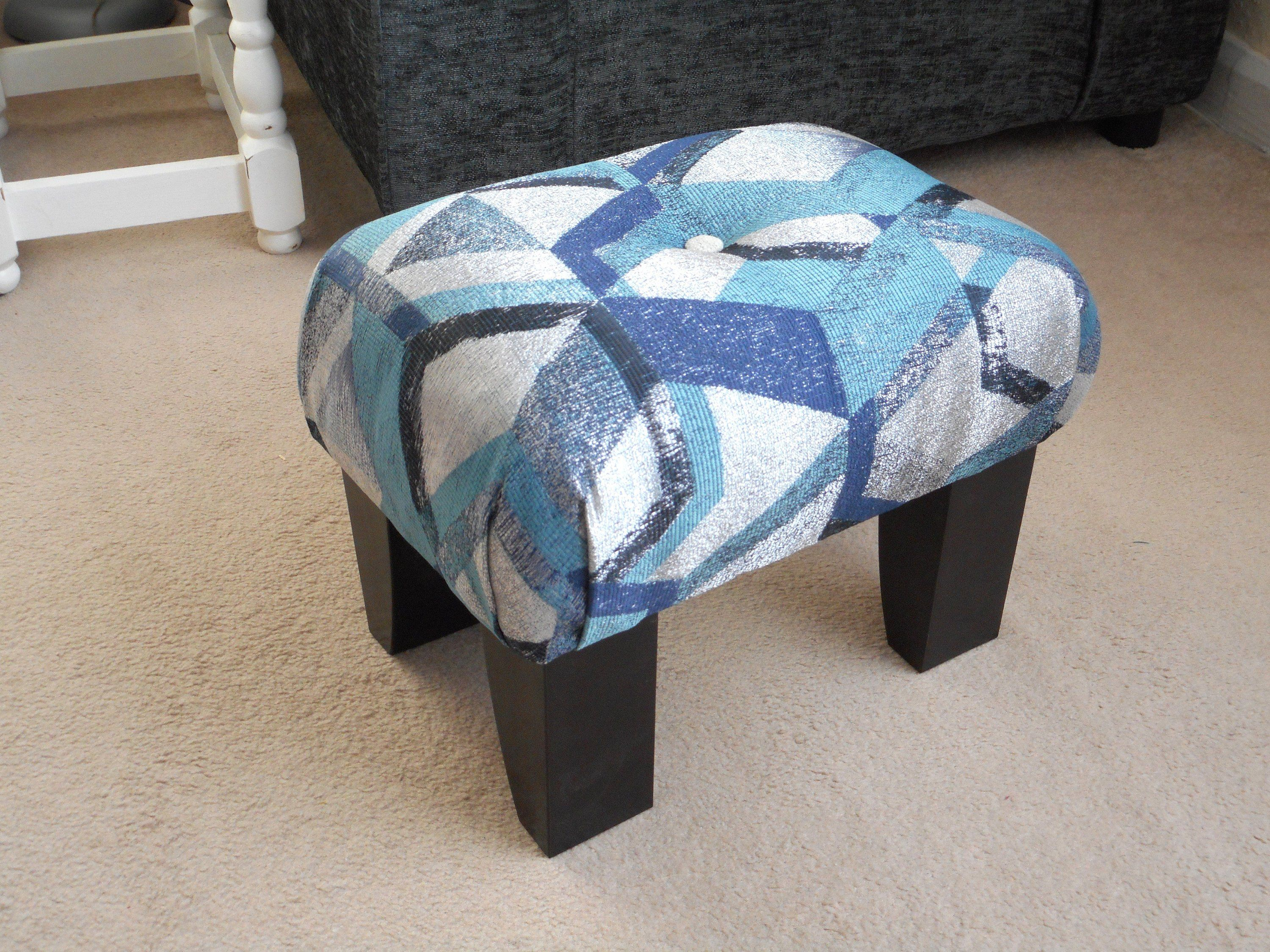 Unique Footstool Small Footstool Upholstered Footstool Small Stool Upholstered Foot Stool Handmade Upholstered Footstool Small Footstool Small Stool