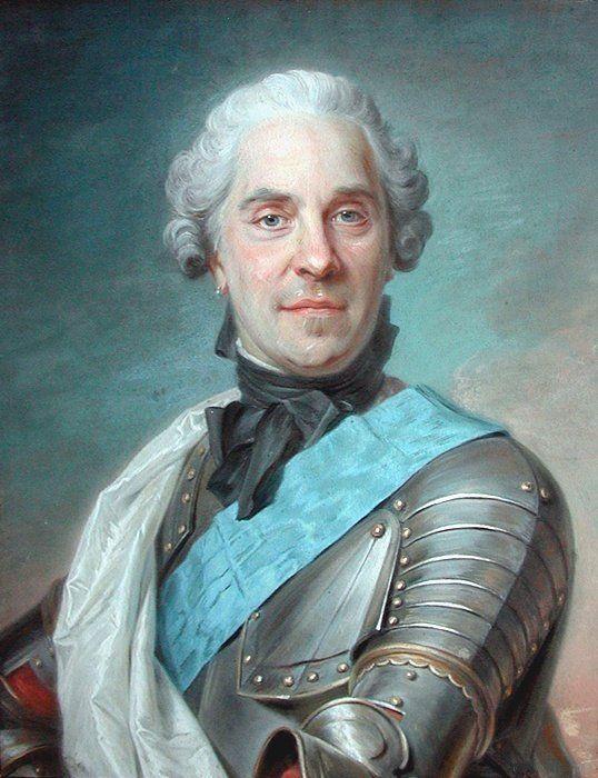 """Maurice Quentin de La Tour, """"Ritratto di Maurice de Saxe, marscialo di France"""", 1748, pastello su carta. Parigi, Museo della Vita Romantica."""