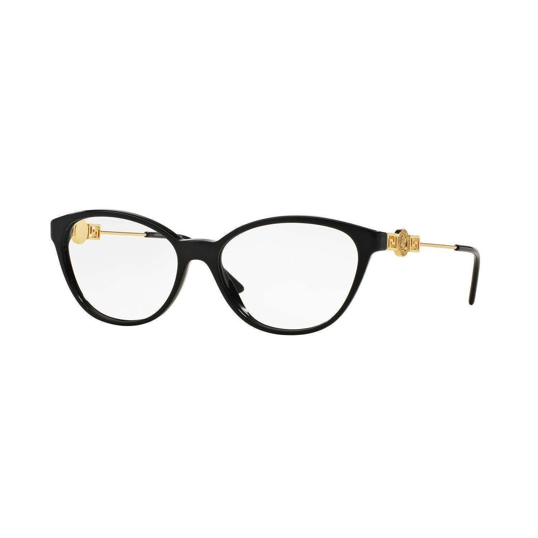 2b63c2cdb60 Versace Womens VE3215 GB1 Cat Eye Eyeglasses
