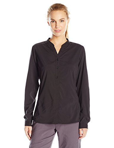 ExOfficio Womens Safari Long Sleeve Shirt Black XLarge * You can find out more details at the link of the image.