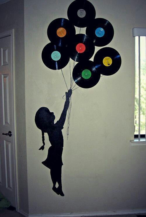 Vinilos Fotos Pinterest Vinilos Decoración Con Discos