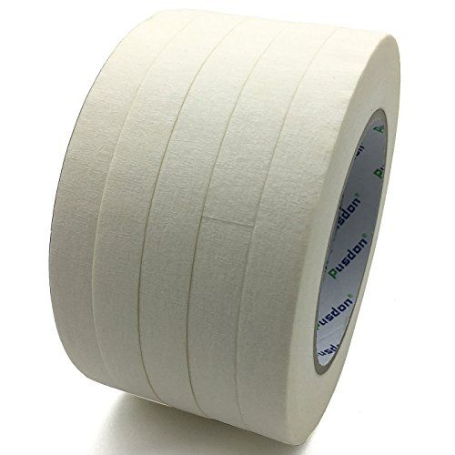 Pusdon Masking Tape White Pack Of 5 Each 1 2 Inch X 60 Yards 13mm X 55m Masking Tape Gaffer Tape Tape Painting
