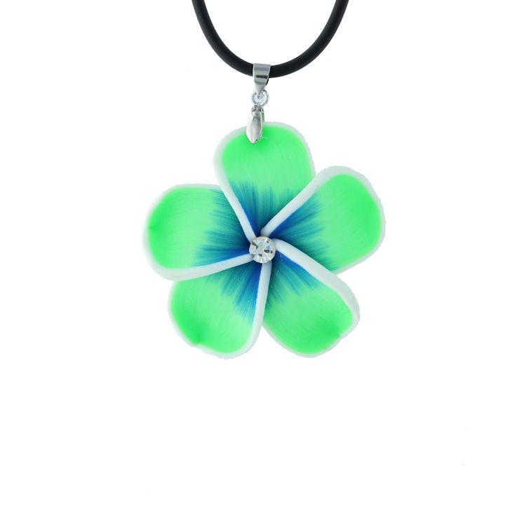 "Collier 18"" en forme de fleur Verte #ModeCSG"