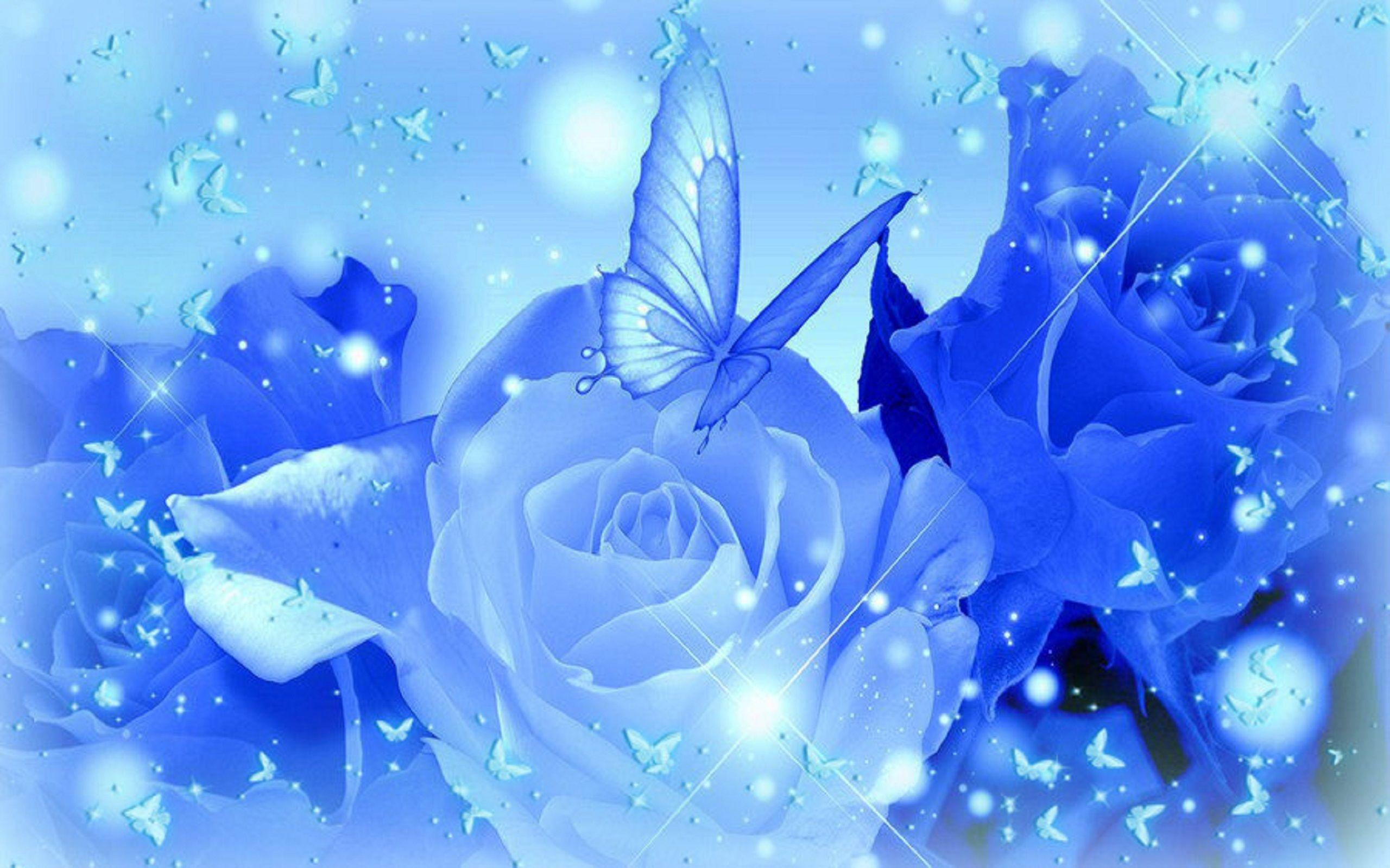 Blue Rose Desktop Wallpapers in 2020 | Blue roses ...