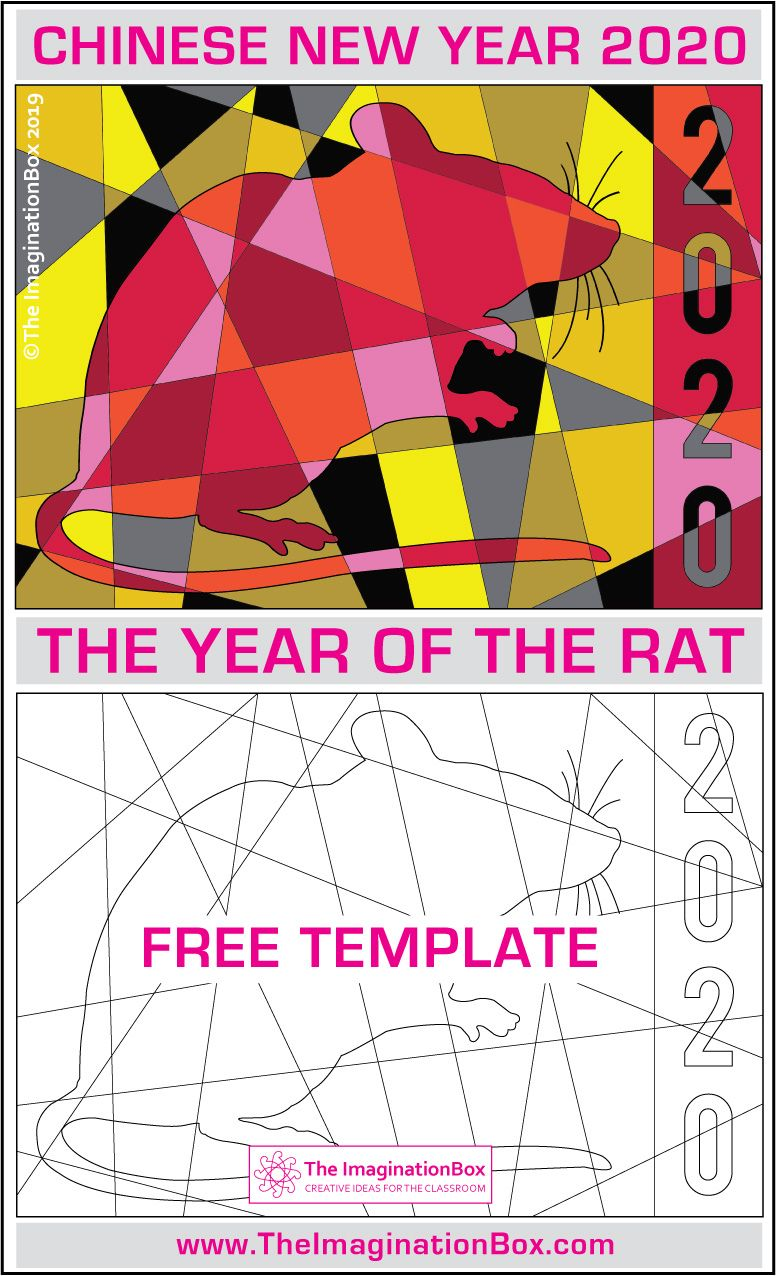 Chinese New Year 2020 Free Rat Coloring Pages Chinese New Year
