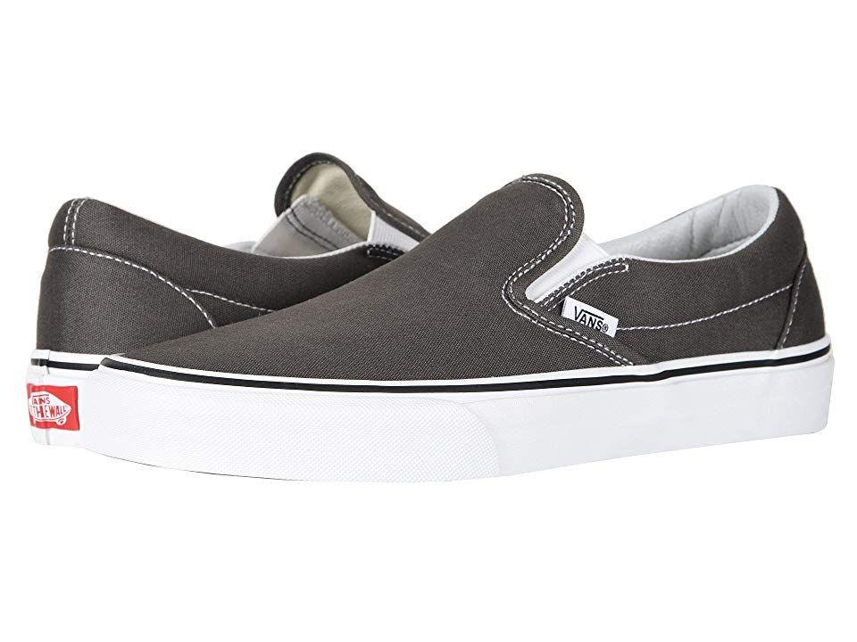 7afbf3c2b0 Vans Classic Slip-Ontm Core Classics (Charcoal (Canvas)) Shoes. The ...