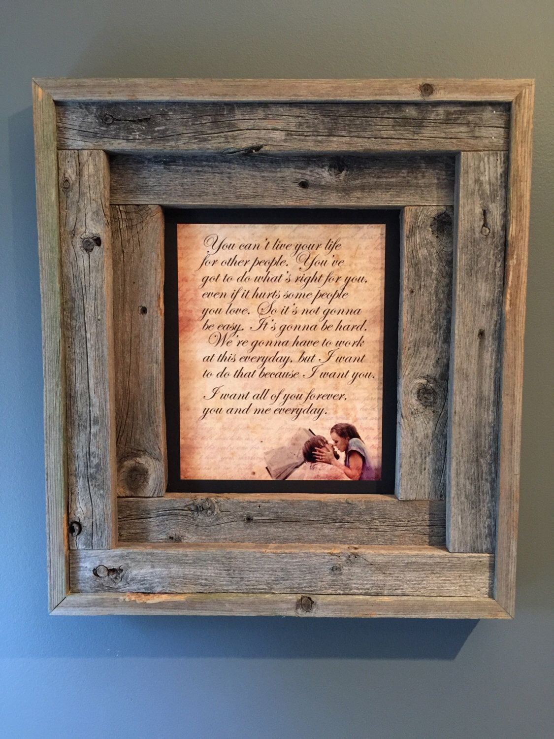 Weathered Gray Rustic Handmade Picture Frame Display Natural Etsy Handmade Picture Frames Picture On Wood Wood Picture Frames