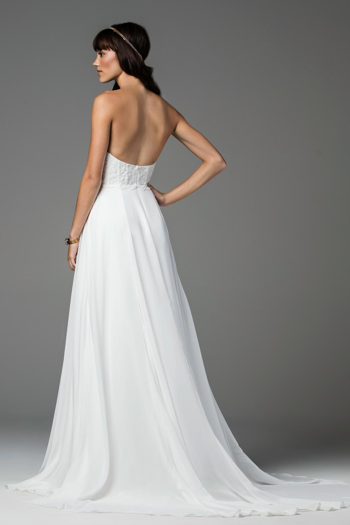 WattersWillowby Allira Back Detail Wedding Dress   이미지