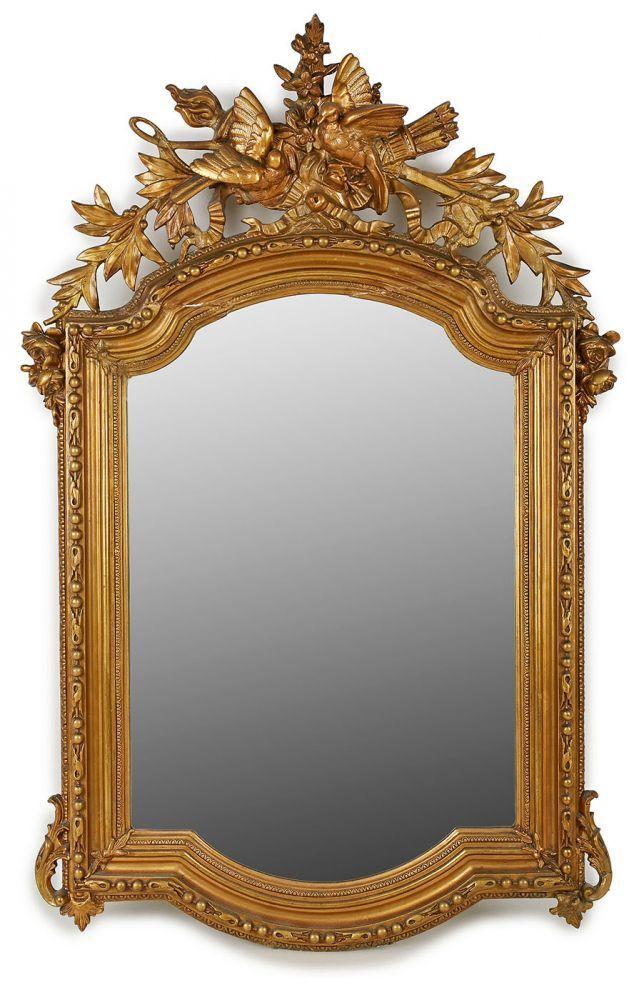 spiegel louis xvi stil frankreich 19 jh hochrechteckiger spiegel geschnitzte bekr nung m. Black Bedroom Furniture Sets. Home Design Ideas