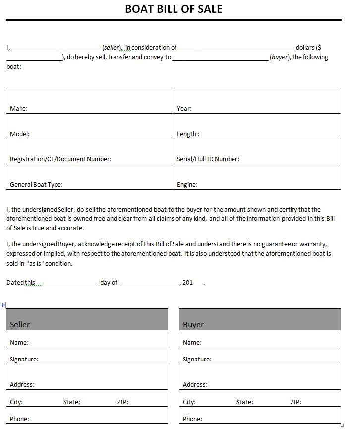 Printable Sample bill of sale templates Form Forms and Template - free printable release of liability form