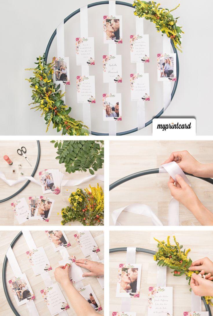 Die Hänge-Deko mit Hula-Hoop-Reifen im Boho-Look #hochzeitsdeko