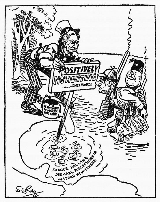 MONROE DOCTRINE CARTOON. 'Just So There'll Be No