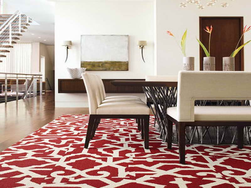 Inspiring Floor Carpet Tiles For Your Home Design Ideas: Interesting Floor Carpet Tiles For Modern Dining Room Design