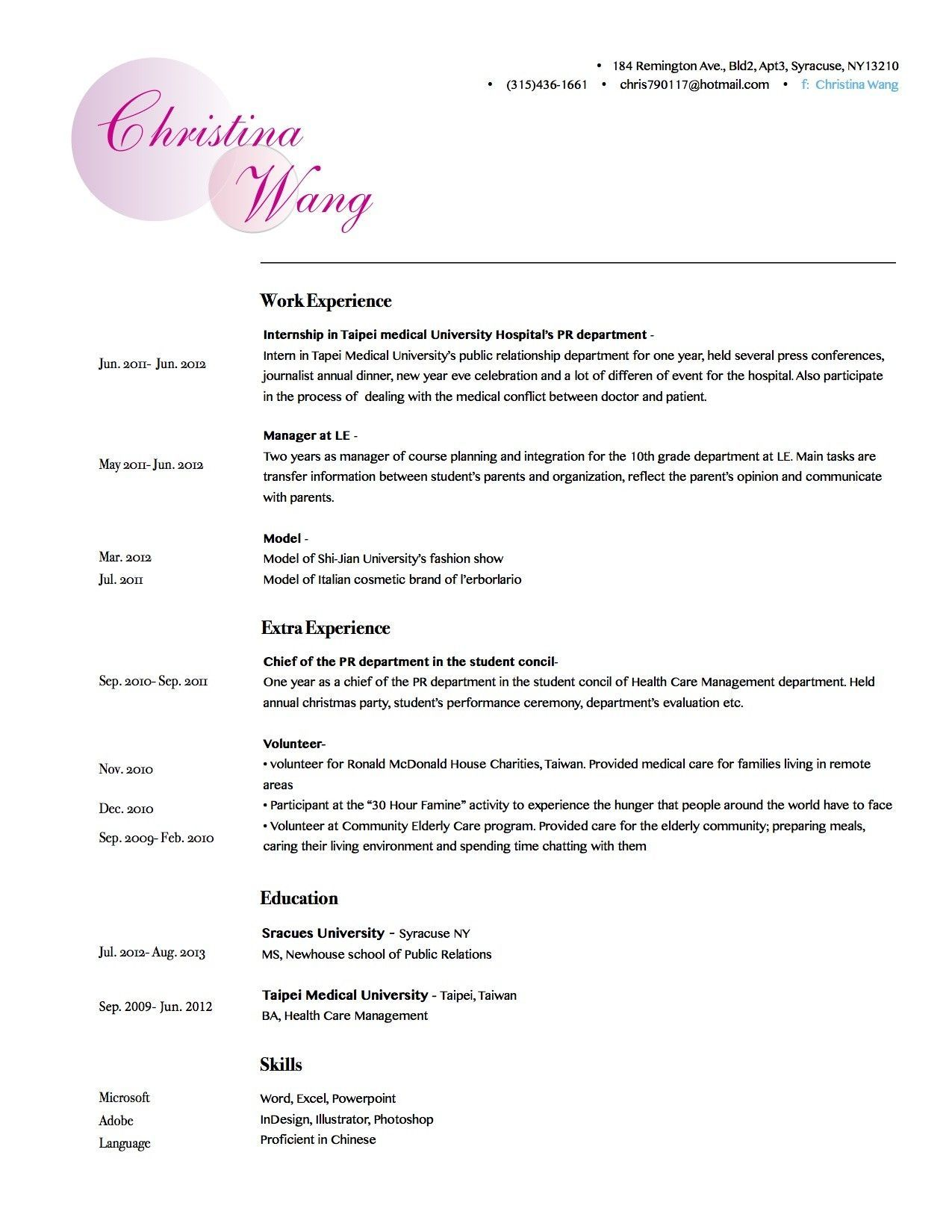 The Best Artist Resume Template Check More At Http