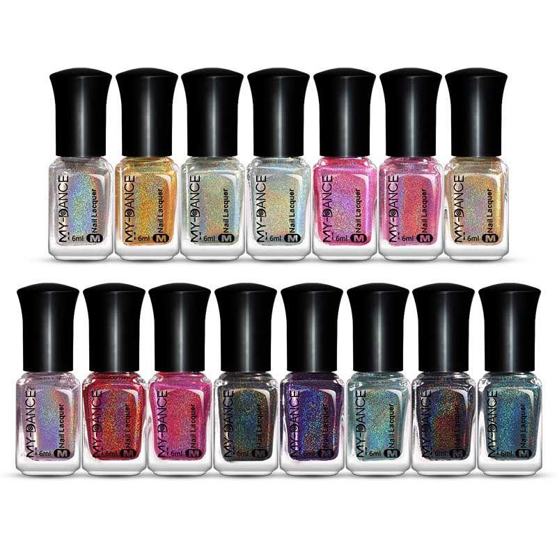 12 Colors Ultra Shining Color Nail Polish Fast Dry Nail Art Tools ...