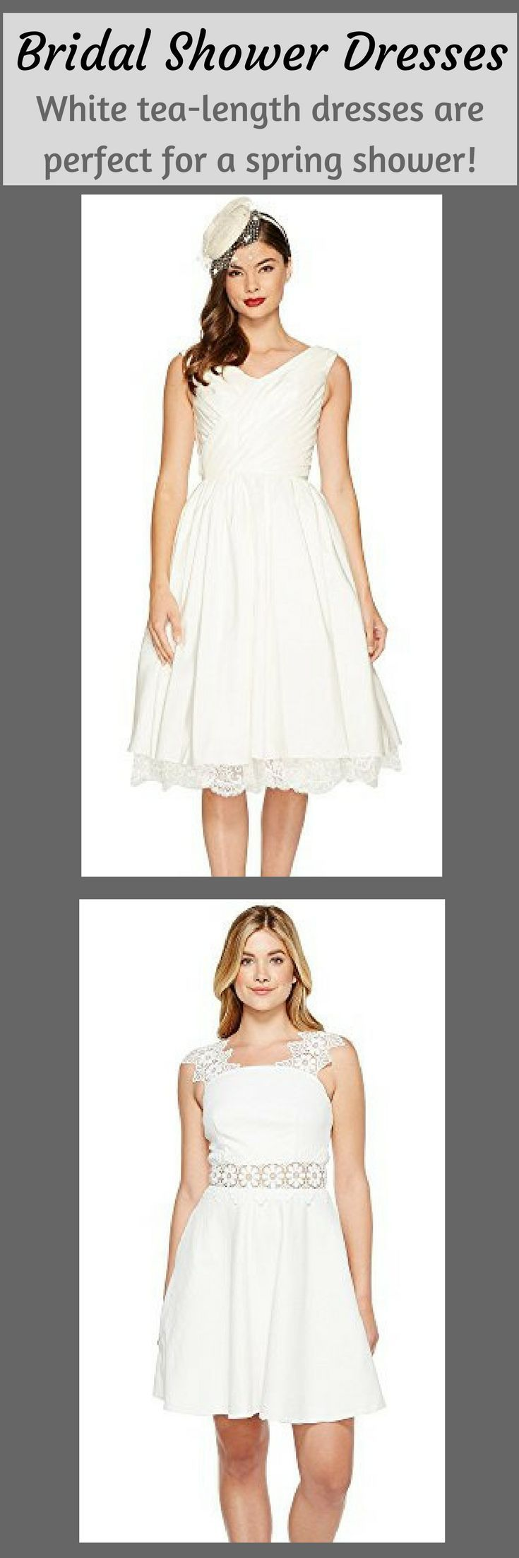 dont know what to wear to your bridal shower white of course