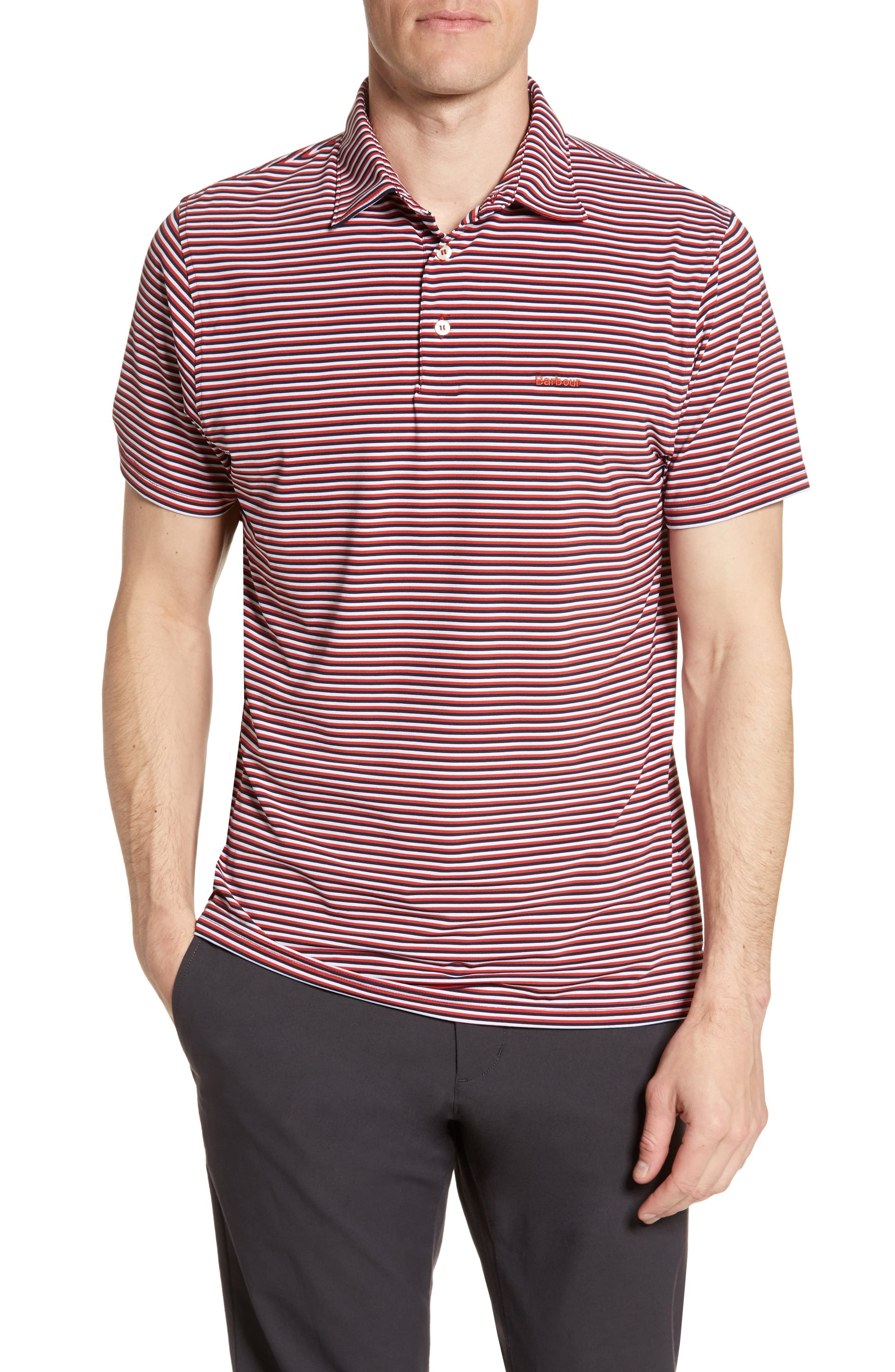 Barbour Stripe Short Sleeve Performance Polo in 2019 | Products