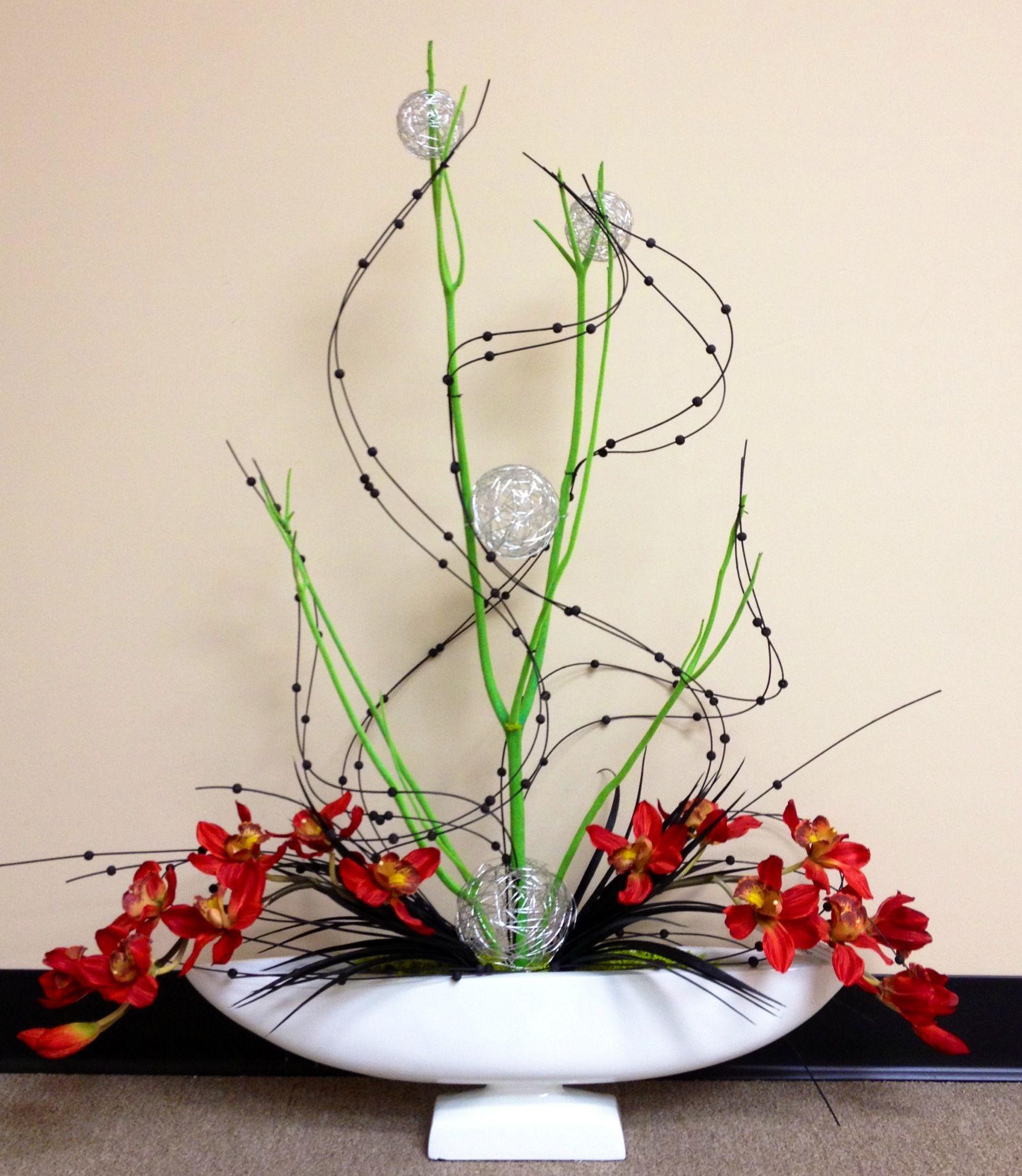 Contemporary #orchid #arrangement. Arcadia Floral Home