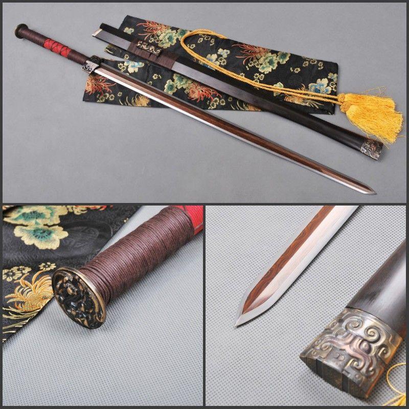 Valeur de collection la main chinois sword pli acier - Couteau chinois cuisine ...