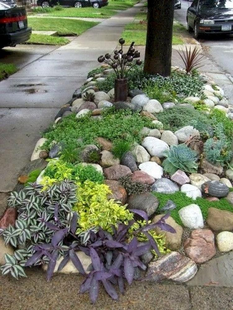 Simple Rock Garden Decor Ideas for Your Front or Back Yard | Садовые ...