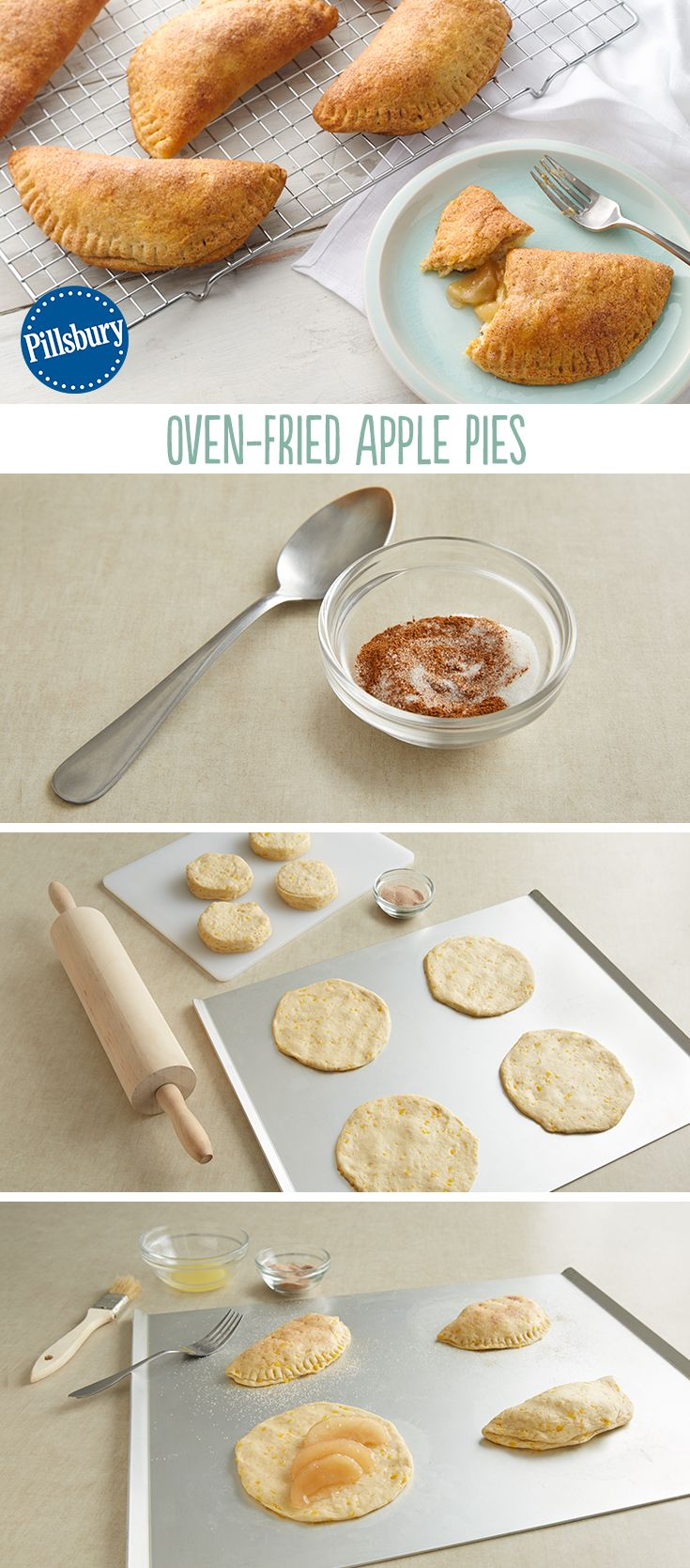 oven fried apple pies recipe biscuit recipes pinterest mini