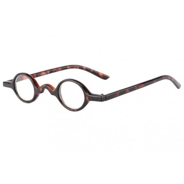 67cf8a20fa285 Petites lunettes loupe rondes marron écailles style retro et intello des  années 30 modèle Mozer