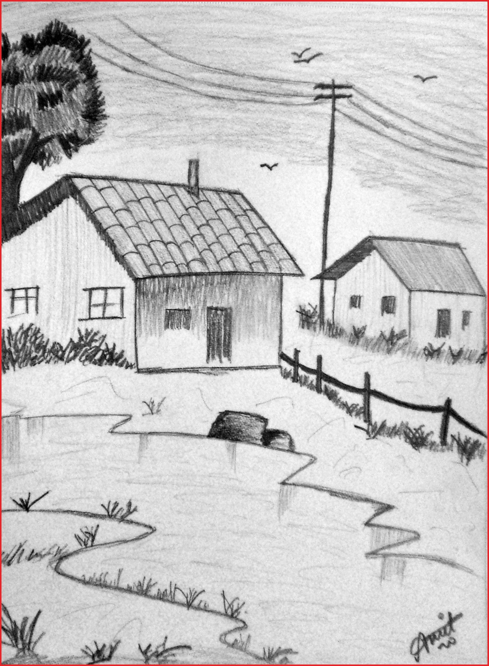 How To Draw Landscapes 152578 Shading Landscape Pencil Landscape Landscape Pencil Drawings Landscape Drawing Easy Pencil Drawings Of Nature