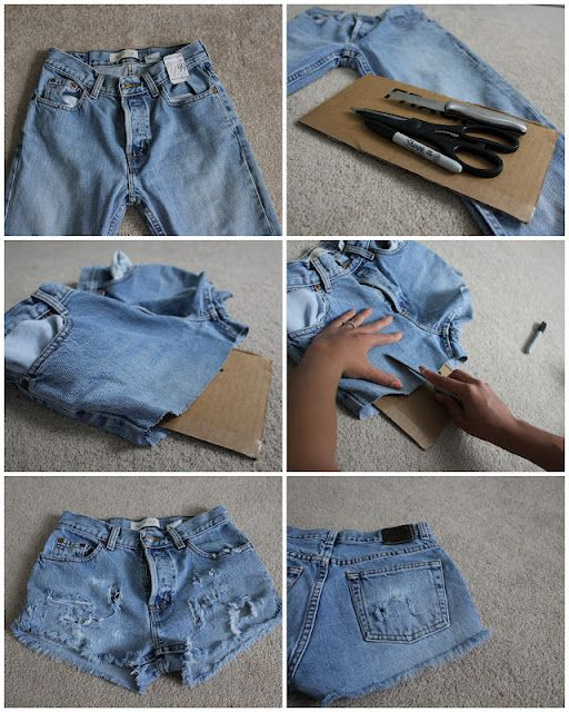 A Little Bit Of Lacquer Diy Distressed Shorts Diy Denim Shorts Diy Ripped Jeans Diy Jean Shorts