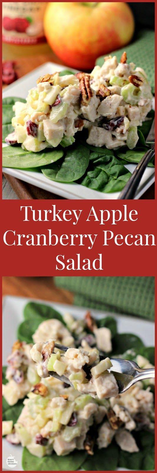 Turkey apple cranberry pecan salad renee 39 s kitchen for Renee s kitchen