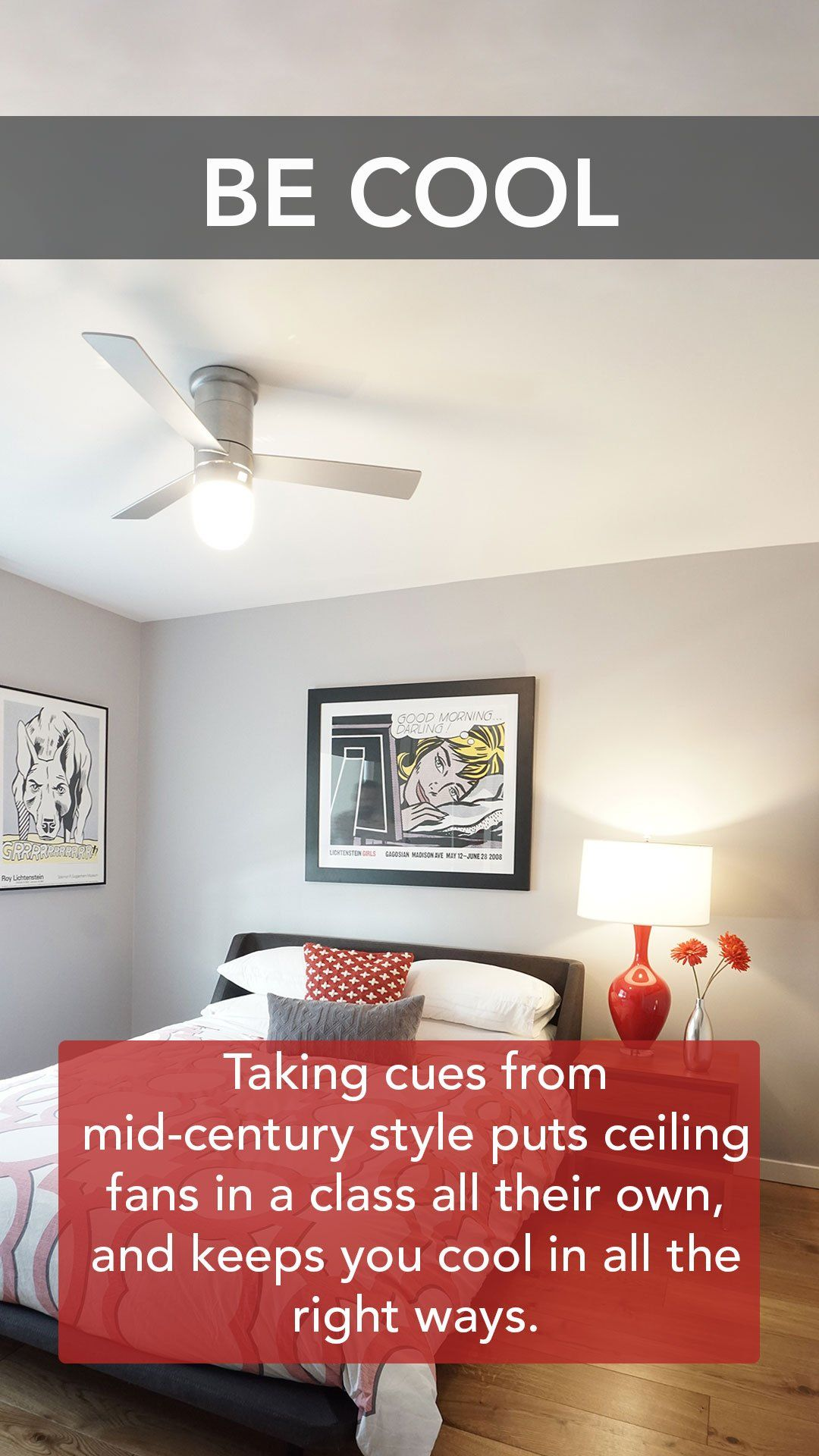 Taking Cues From Mid Century Style Puts Ceiling Fans In A Class