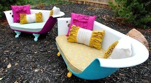 Que Faire Avec Une Vieille Baignoire sofas originaux, les baignoires canapés !   insolite   baignoire