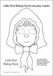 Story Time; DIY Little Red Riding Hood Role-Play Masks