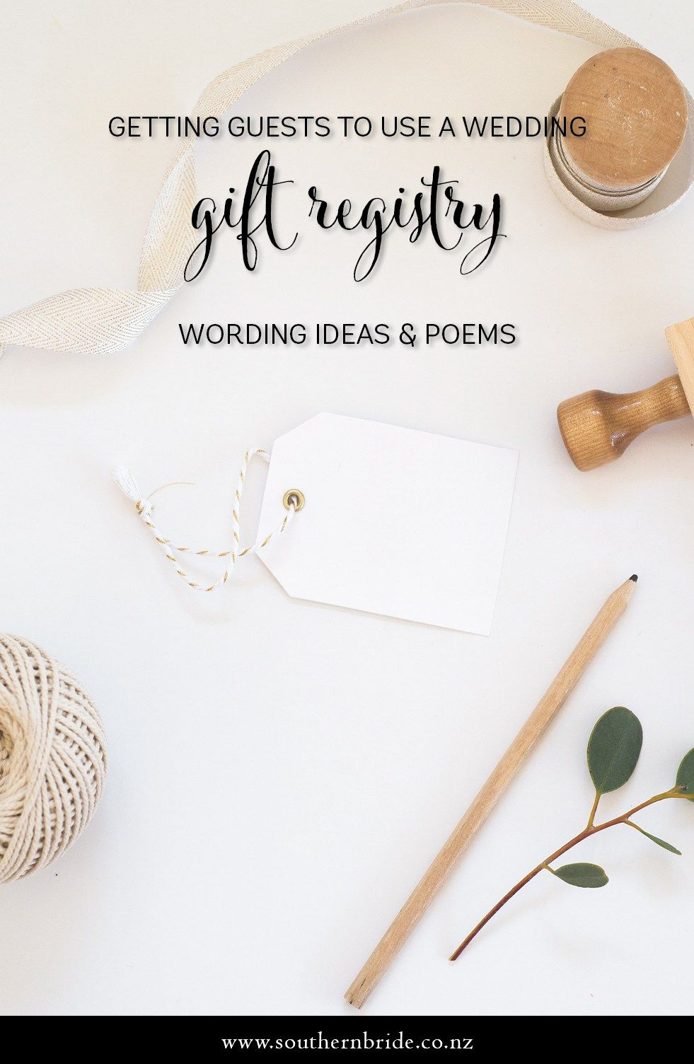 Wedding Gift Registry Wording Ideas How to ask for gifts