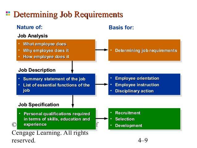 Determining Job Requirements Nature of Basis for Job Analysis - job analysis
