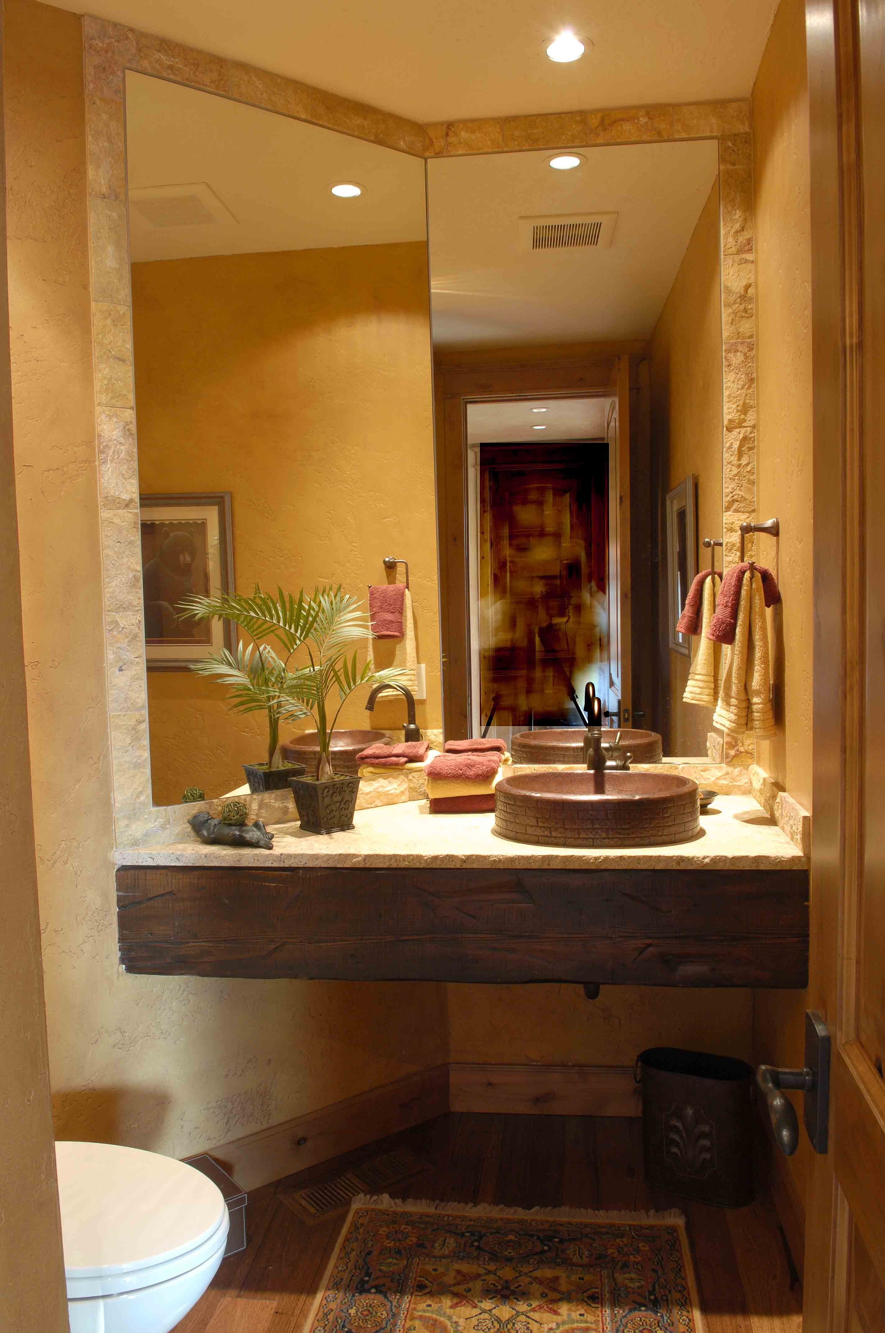 Guest Bathroom From Sisters Or Lodge Style Home Homes And Design