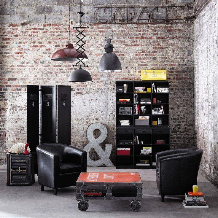 Descubre la decoración de salones modernos industriales Industrial